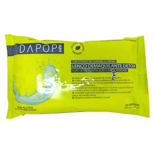 Lenço Demaquilante Detox Dapop Care DP2026