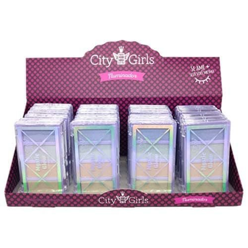 Iluminador Mystic Glow City Girls CG222 - Box c/ 24 unid
