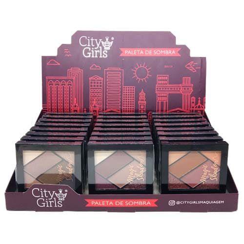Paleta de Sombras Magic Shadow City Girls CG158 - Box c/ 24 unid