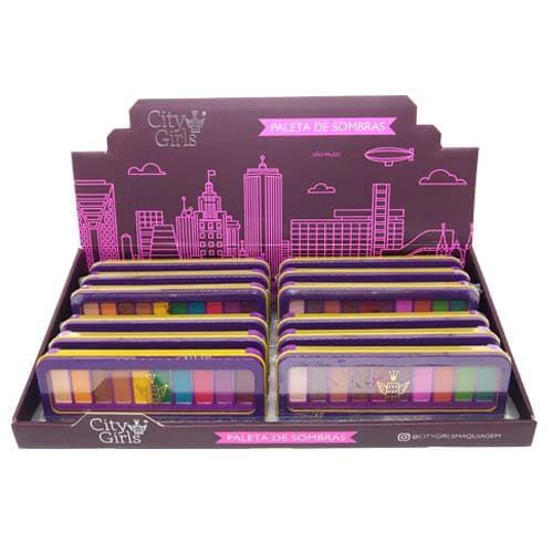Paleta de Sombras Charming Collection City Girls CG205 - Box c/ 12 unid