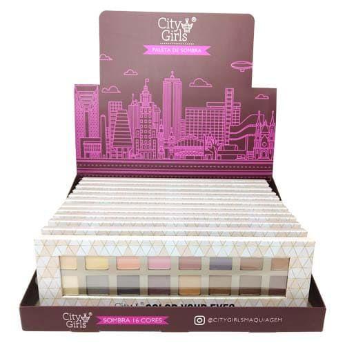 Paleta de Sombras Color Your Eyes City Girls CG127 - Box c/ 12 unid