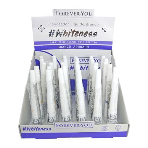 Delineador Líquido Branco Whiteness Forever You FY017 – Box c/ 30 unid