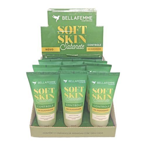 Sabonete Controle da Oleosidade Soft Skin Bella Femme SS80009 – Box c/ 12 unid