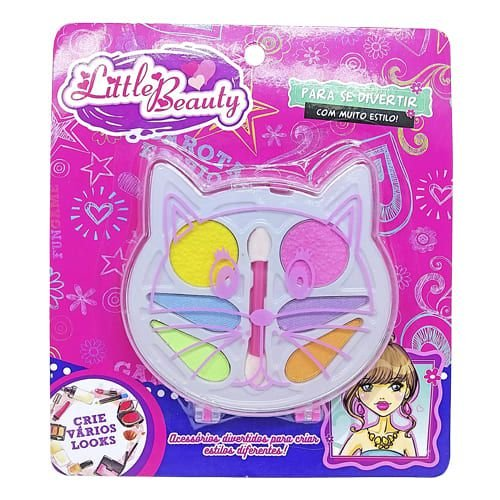 Brinquedo Infantil Kit Maquiagem para Boneca Little Beauty Gato BAR-14002
