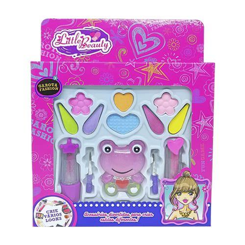 Brinquedo Infantil Kit Maquiagem para Boneca Little Beauty BAR-14222