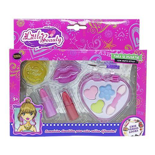 Brinquedo Infantil Kit Maquiagem para Boneca Little Beauty BAR-18666
