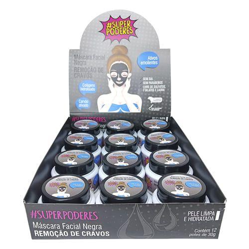 Máscara Facial Remoção de Cravos Super Poderes NRCSP01 - Box c/ 12 unid