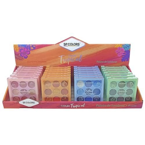 Paleta de Sombras Coleção Tropical SP Colors SP222– Box c/ 24 unid