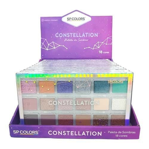Paleta de Sombras Constellation 18 cores SP Colors SP240 – Box c/ 12 unid