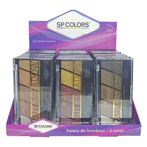 Paleta de Sombras Beauty Shadow SP Colors SP159 – Box c/ 24 unid
