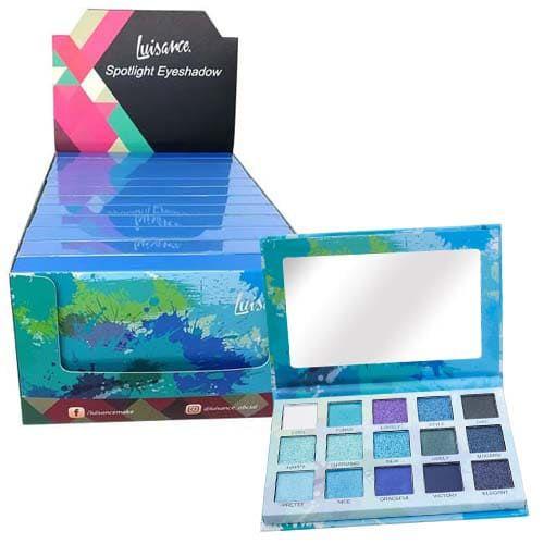 Paleta de Sombras Spotlight Eyeshadow Blue Luisance L2037 – Box c/ 12 unid