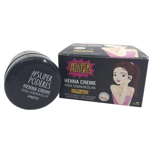 Henna Creme para Sobrancelha Preto Super Poderes CRPSP01