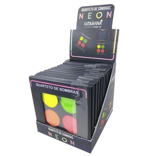 Quarteto de Sombras Neon Ludurana B00030 – Box c/ 12 unid