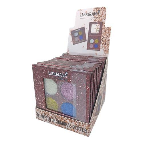 Quarteto de Sombras Glitter Ludurana B00031 – Box c/ 12 unid