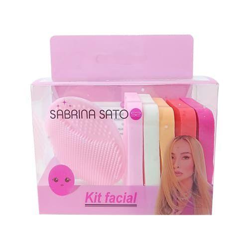 Kit Esponja para Maquiagem e Escova de Limpeza Facial Sabrina Sato SS-1137