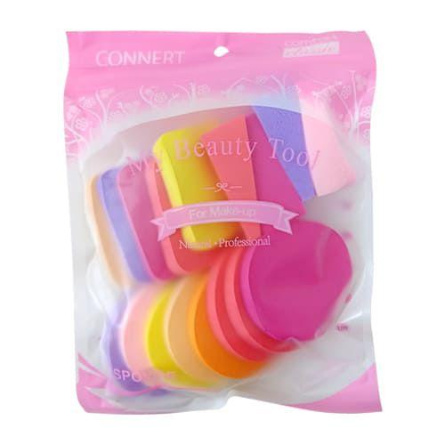 Kit com 17 Esponjas Comfort Classic For Make-up