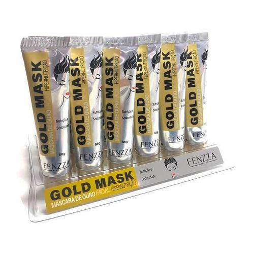 Máscara de Ouro Facial Gold Mask Fenzza FZ38021 - Box c/ 24 unid