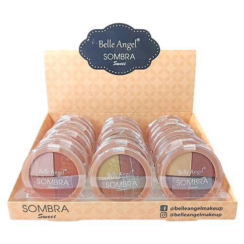 Paleta de Sombras Sweet 4 Cores Belle Angel B091 – Box c/ 24 unid