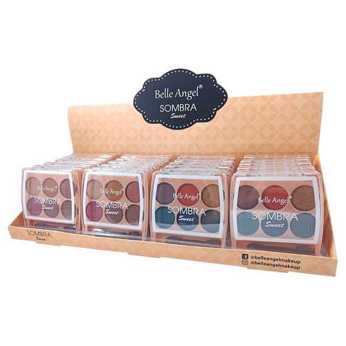 Paleta de Sombras Sweet 6 Cores Belle Angel B093 – Box c/ 24 unid