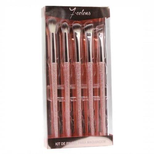 Kit de Pincéis para Maquiagem Profissional Seven Colors SC-613
