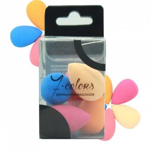 Kit com 05 Mini Esponja para Maquiagem Seven Colors YZ-1004