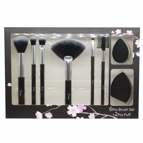 Kit de Pincéis e Esponja para Maquiagem Seven Colors SV-03