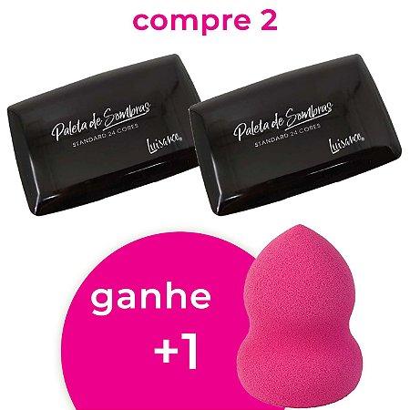 Compre 2 Paleta de Sombras Standard 24 Cores Luisance L013e Ganhe 1 Esponja 360°