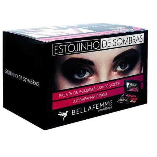 Paleta de Sombras com 18 Cores Bella Femme BF10021A - Box c/ 12 unid