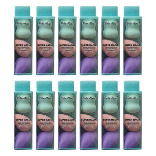 Kit com 03 Esponjas para Maquiagem Hello Mini RL236 – Pacote c/ 12 unid