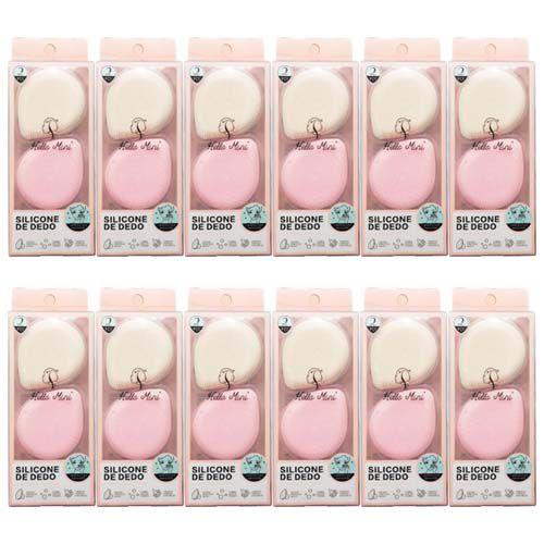 Esponja de Dedo em Silicone para Limpeza Facial Hello Mini LS240 – Pacote c/ 12 unid