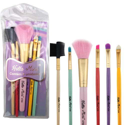 Kit de Pincéis para Maquiagem Hello Mini KT69