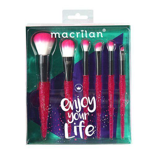 Kit com 06 Pincéis Enjoy Your Life Macrilan KP10-3