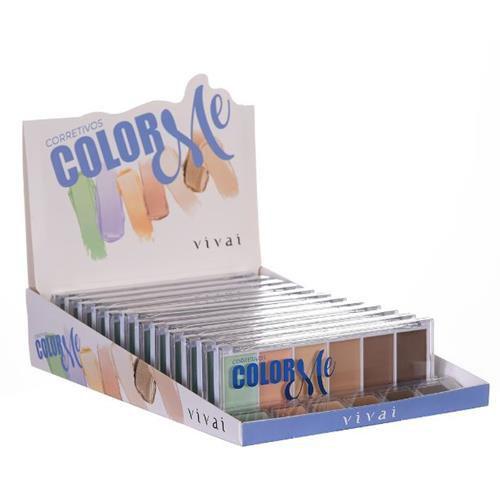 Paleta de Corretivo Color Me Vivai 4032.1.8 – Box c/ 12 unid