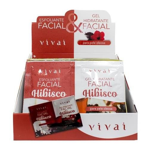 Gel Hidratante e Esfoliante Facial Hibisco Vivai 5054.5.1 – Box c/ 24 unid