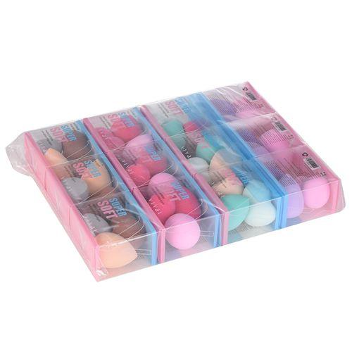 Kit com 03 Esponjas para Maquiagem Super Soft Vivai 5000.1.1 – Pacote c/ 12 unid