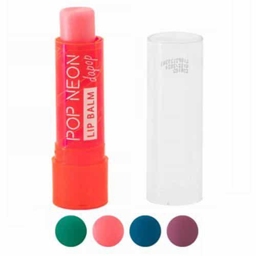 Lip Balm Pop Neon Dapop DP2129 - Kit c/ 08 unid