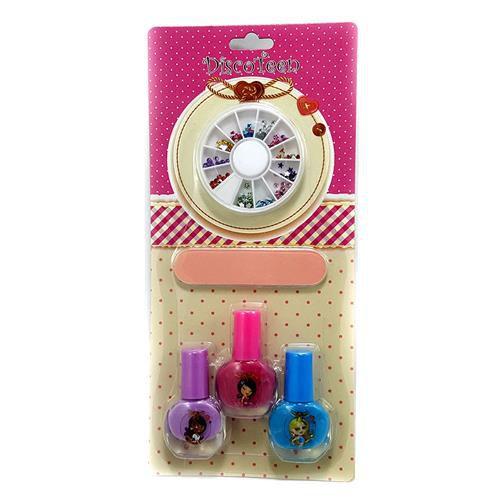 Kit Manicure Infantil Disco Teen HB94737 – Kit c/ 06 unid
