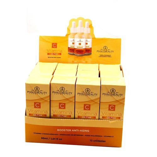 Sérum Vitamina C Booster Anti-Aging Phállebeauty PH0147 - Box c/ 12 unid