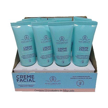 Creme Facial Peles Secas e Sensíveis Phállebeauty PH0033 - Box c/ 12 unid