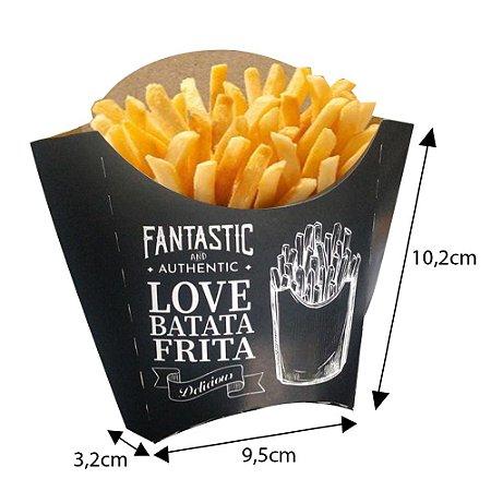 Caixa Batata Frita Preta  Média ( 100 Unidades Promoção )