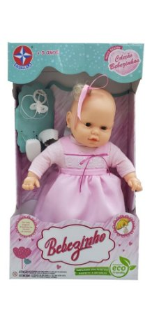 Boneca Bebezinho Vestido Sortido 49 Cm Estrela
