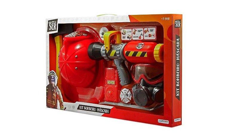 Brinquedo Kit Bombeiro Com Máscara de Oxigênio Multikids