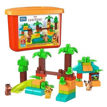 Balde Blocos de Montar Construção Rei Leão GWN57 Mattel