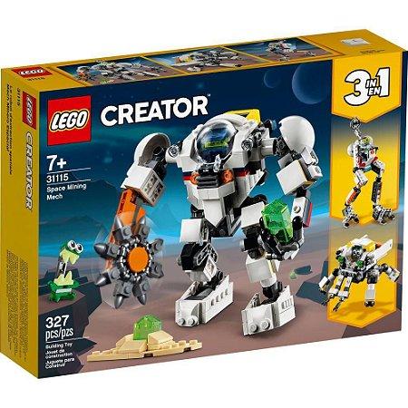 Lego Creator Space Mining Mech 327 Peças 31115