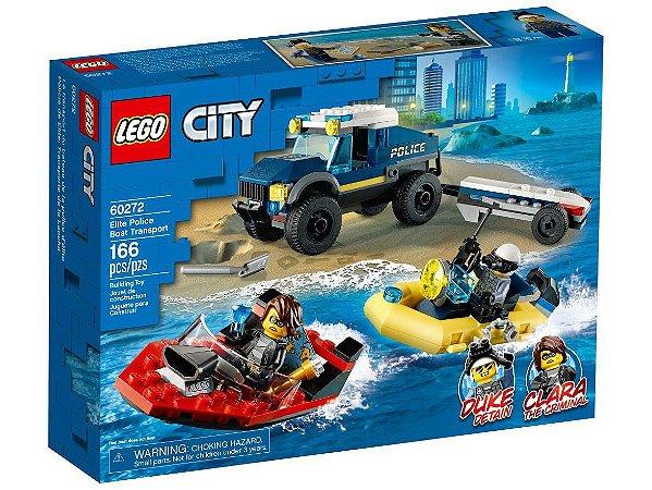 Lego City Transporte de Barco Polícia Elite 166 Peças 60272