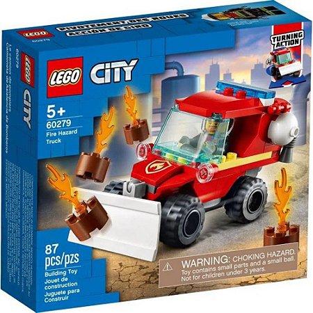 Lego City Jipe de Assistência dos Bombeiros 87 Peças 60279