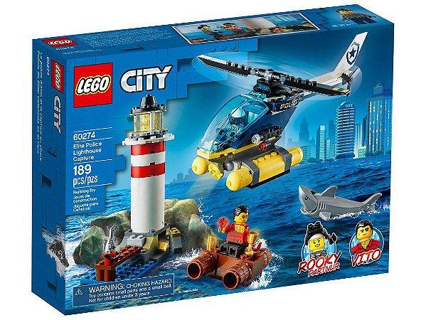 Lego City Polícia de Elite Captura no Farol 189 Peças 60274