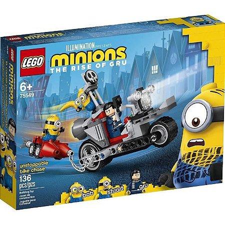Lego Minions Perseguição Imparável De Moto 136 Peças 75549