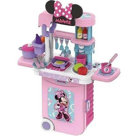 Cozinha Infantil Minnie 3 Em 1 Maleta Rosa Multikids 1300