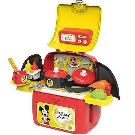 Mochila Kit Playset Mickey Cozinha Multikids Br1299